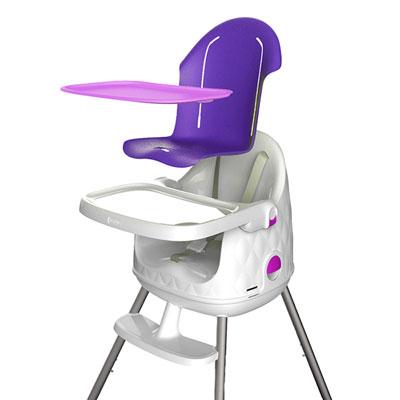 Chaise haute bébé multi dine 3 en 1 violet Babytolove