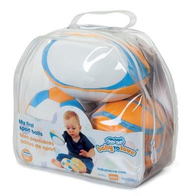 Jouet d'éveil bébé mes premières balles de sport Babytolove