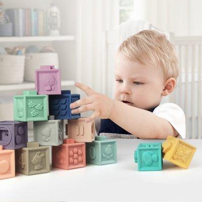 Jouet d'éveil bébé mes premiers cubes éducatifs Babytolove