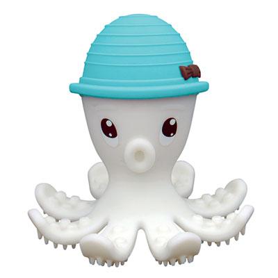 Anneau de dentition pieuvre 3d bleu mombella Babytolove