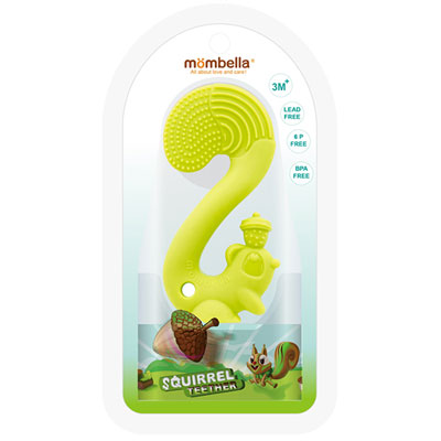 Anneau jouet de dentition ecureuil vert Babytolove
