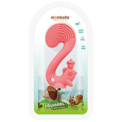 Anneau jouet de dentition ecureuil rose Babytolove