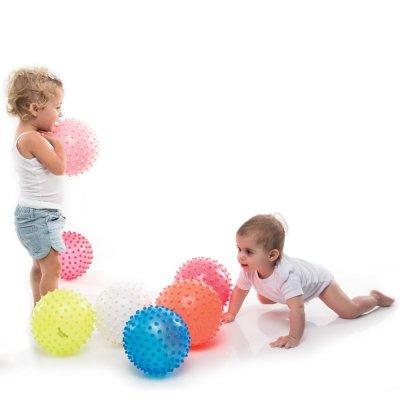 Jouet d'éveil bébé balle transparente tactile Babytolove