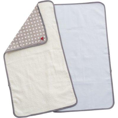 Lot de 2 serviettes à langer white stars Babytolove