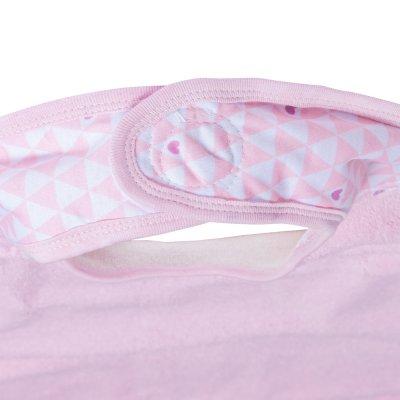 Sortie de bain bébé serviette papillon pink heart Babytolove