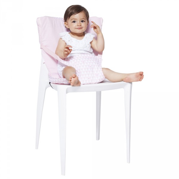 chaise nomade b b pink heart de babytolove chez naturab b. Black Bedroom Furniture Sets. Home Design Ideas