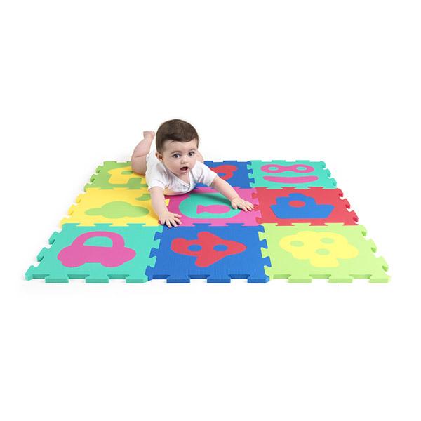 Dalles de jeu puzzles Baby art
