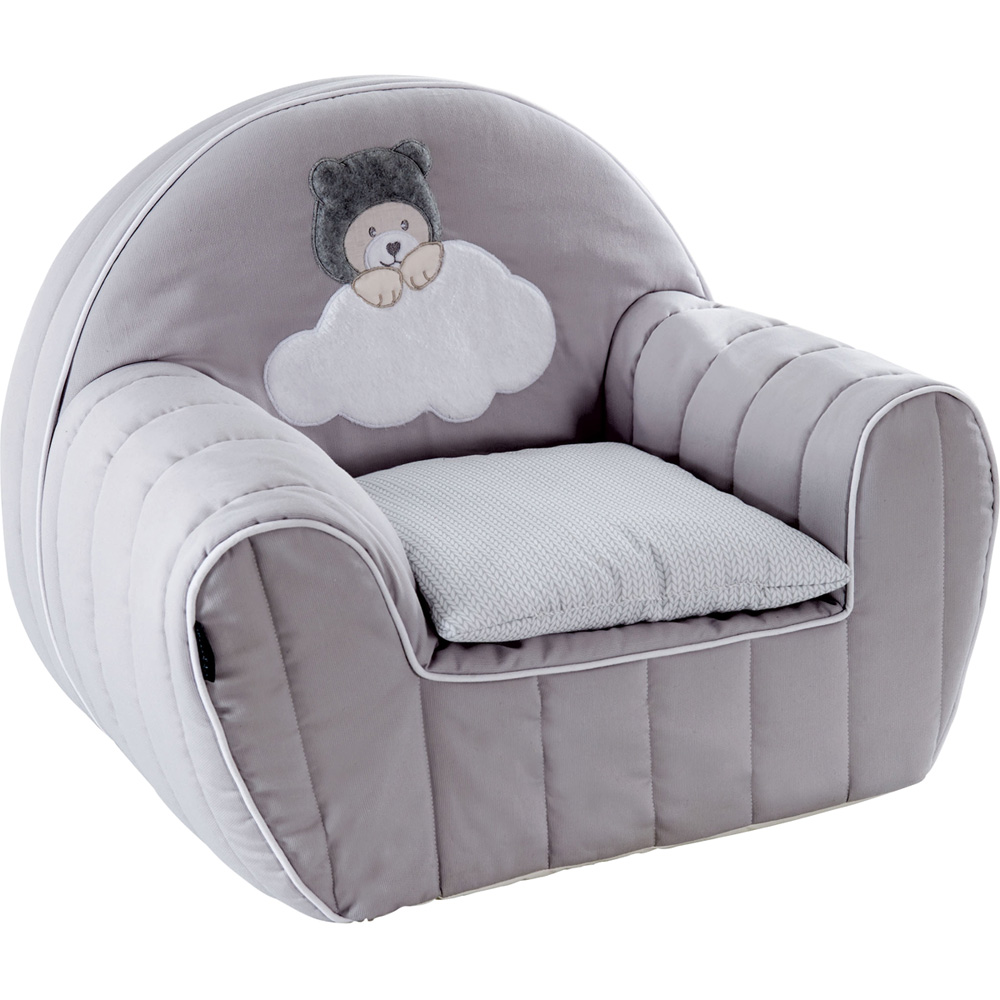 fauteuil club d houssable coussin capuchon gris de candide sur allob b. Black Bedroom Furniture Sets. Home Design Ideas