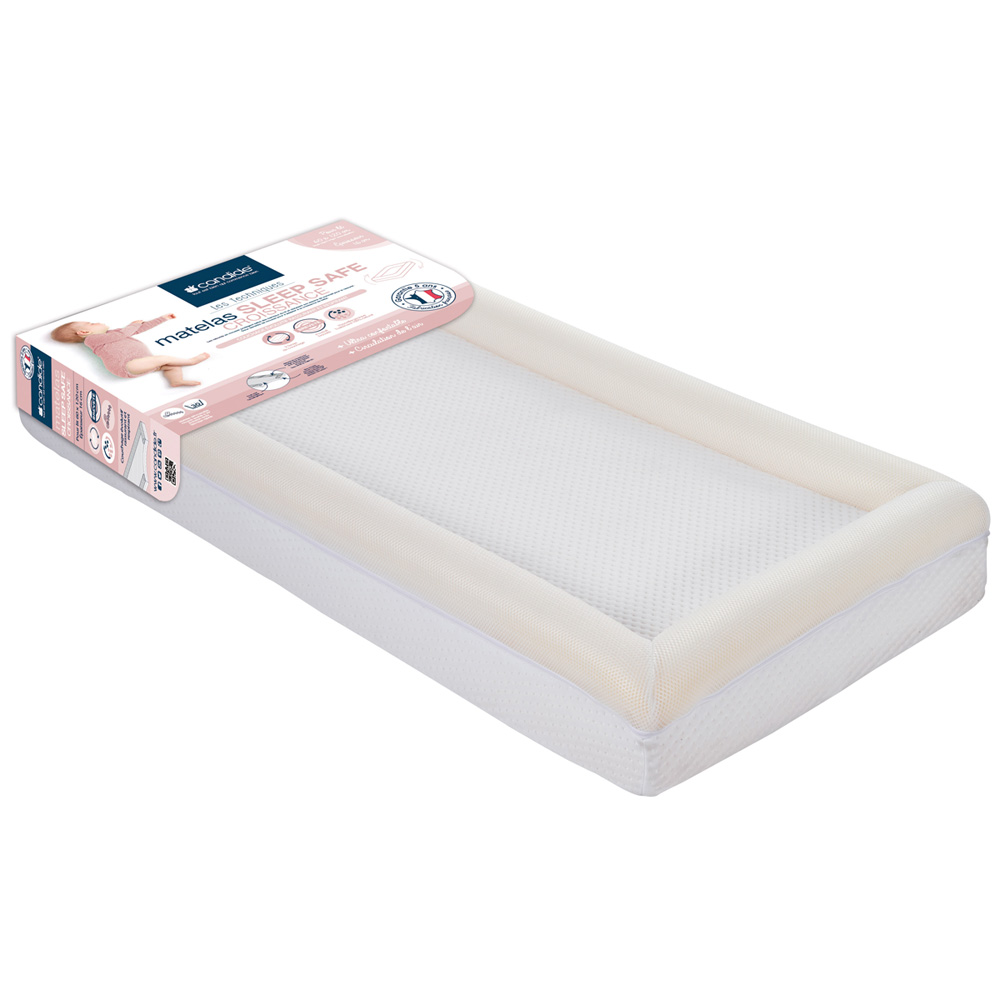 matelas b b sleep safe croissance 70 x 140 cm de candide chez naturab b. Black Bedroom Furniture Sets. Home Design Ideas