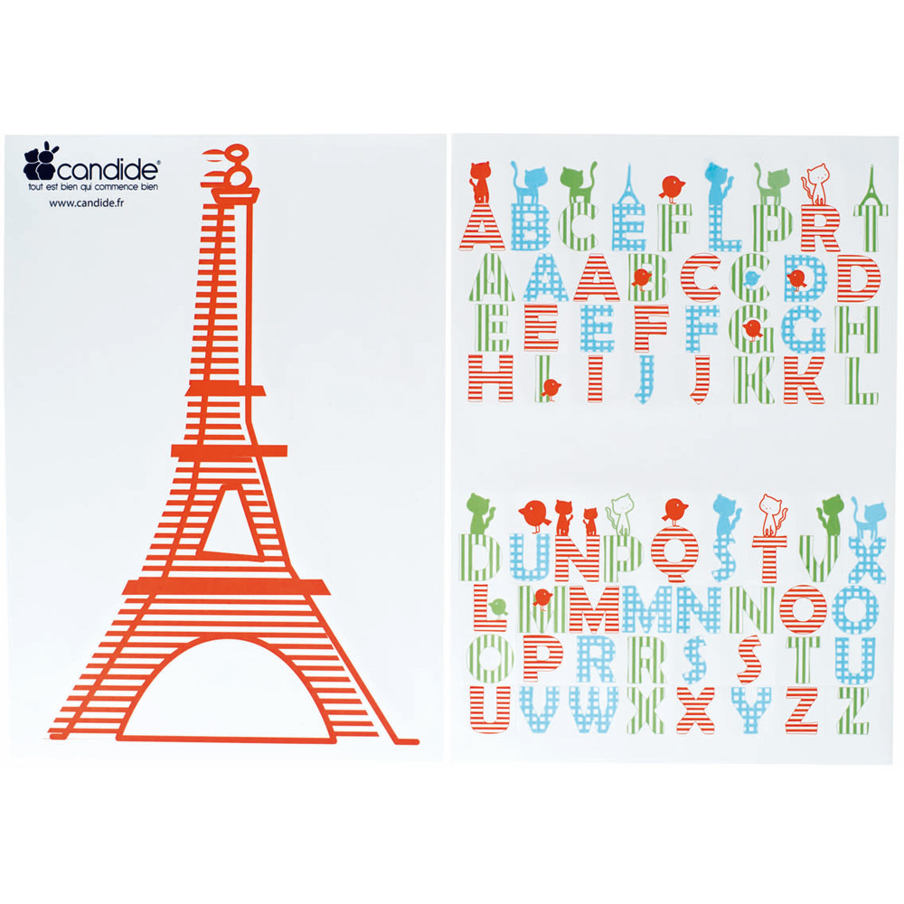 stickers repositionnables paris de candide chez naturab b. Black Bedroom Furniture Sets. Home Design Ideas
