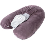 Coussin multirelax soft boa prune/gris pas cher