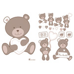 Stickers repositionnables tinours de Candide