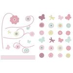 Stickers repositionnables jolie fleur de Candide