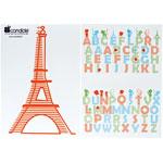 Stickers repositionnable paris de Candide