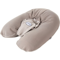 Coussin multirelax plus jersey coton taupe/ficelle