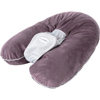 Coussin multirelax soft boa prune/gris