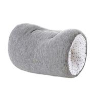 Brassard d'allaitement jersey gris chiné/etoiles blanc