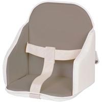 Coussin de chaise pvc gris/blanc