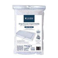 Drap housse bébé imperméable sleep safe blanc 60 x 120 cm
