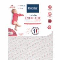 Matelas bébé évolutif déhoussable 70 x 140 cm