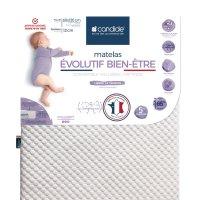 Matelas bébé evolutif bien être déhoussable 60x120cm