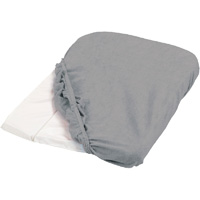 Housse de matelas à langer éponge 50 x 75 cm gris