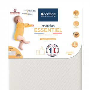 Matelas lit bébé essentiel déhoussable 60x120cm