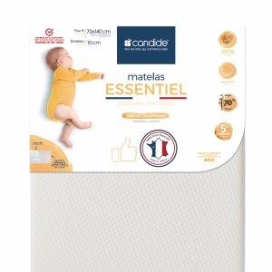 Matelas lit bébé essentiel déhoussable 70x140cm
