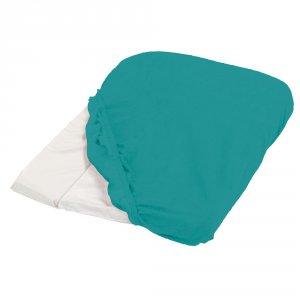 Housse de matelas à langer éponge 50 x 75 cm bleu canard