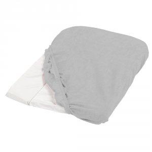 Housse de matelas à langer éponge 50 x 75 cm gris clair