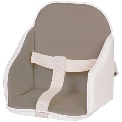 Coussin de chaise pvc gris/blanc Candide