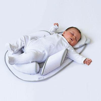Cale bébé panda pad air + blanc/gris Candide