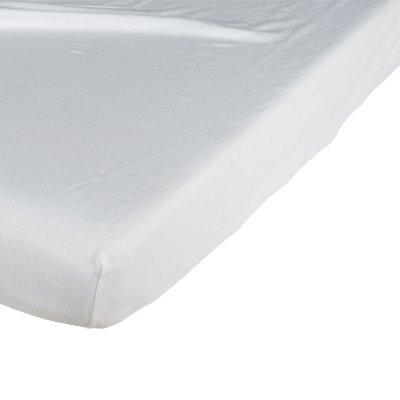 Drap housse coton jersey 40x90 blanc Candide