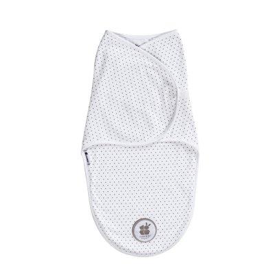 Couverture d'emmaillotage blanc etoile Candide