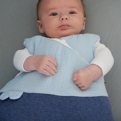 Gigoteuse chaude 0-6 mois matelassé/lange mes jolis songes bleu Candide