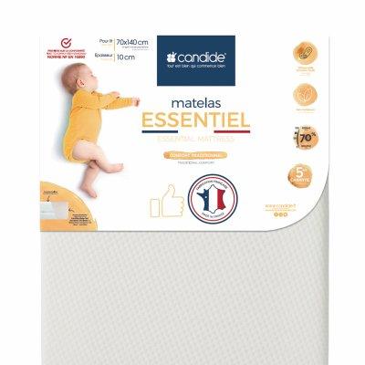 Matelas bébé essentiel déhoussable 70 x 140 cm Candide