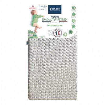 Matelas bébé evolutif fresh déhoussable 60x120 cm Candide