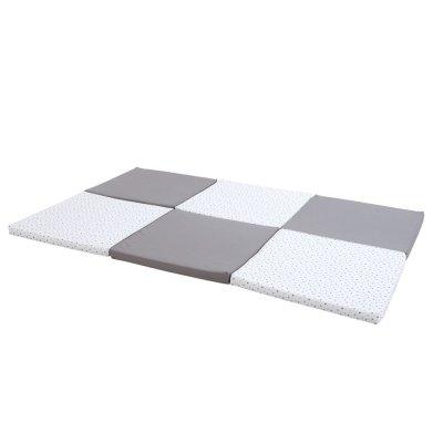 Matelas tapis de motricité xl gris/etoiles Candide