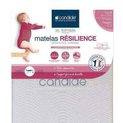Matelas bébé resilience 60x120cm Candide
