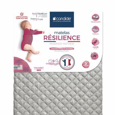 Matelas bébé resilience 70x140cm Candide
