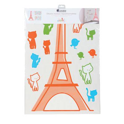 Stickers repositionnable paris Candide
