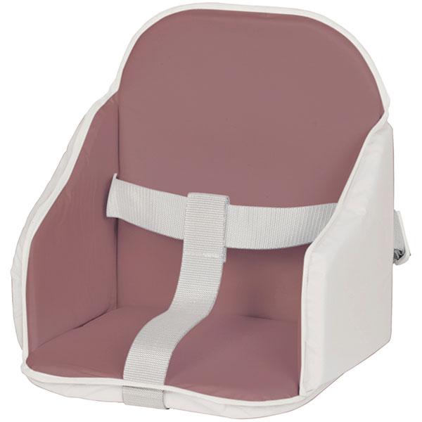 Coussin de chaise pvc figue/blanc Candide