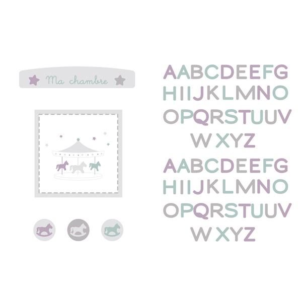 Stickers repositionnables petit manège Candide