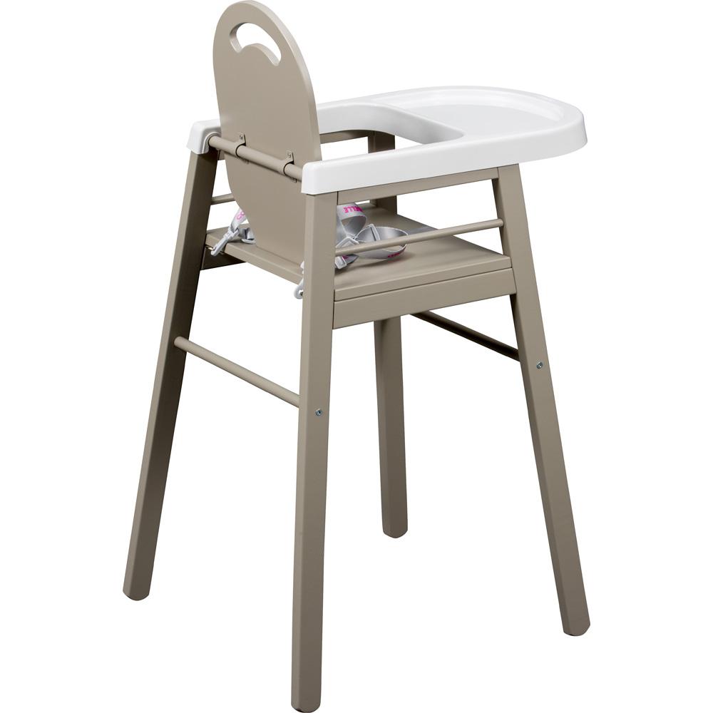 chaise haute b b lili gris de combelle chez naturab b. Black Bedroom Furniture Sets. Home Design Ideas