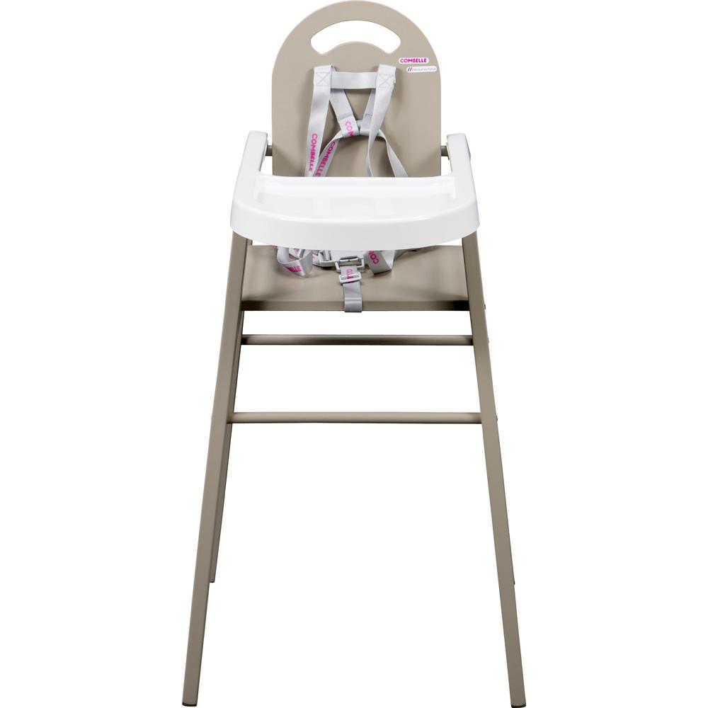 Chaise haute b b lili gris de combelle en vente chez cdm for Chaise haute ou rhausseur
