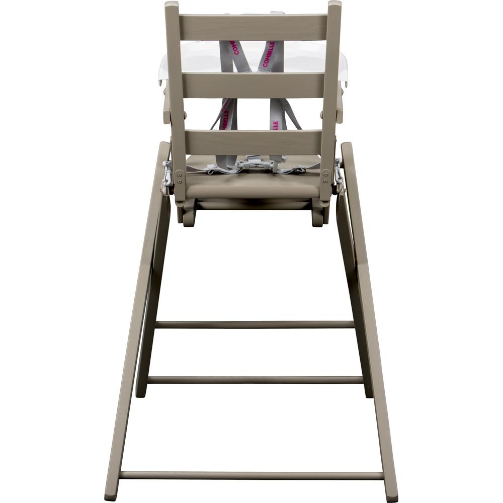 Chaise haute b b extra pliante gris de combelle for Chaise haute combelle pliante