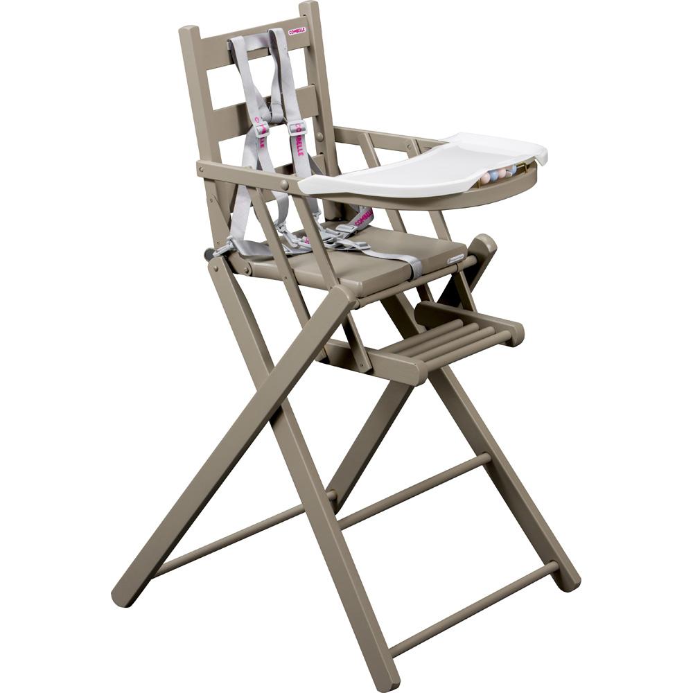 Chaise haute b b extra pliante gris de combelle for Chaise haute combelle extra pliante