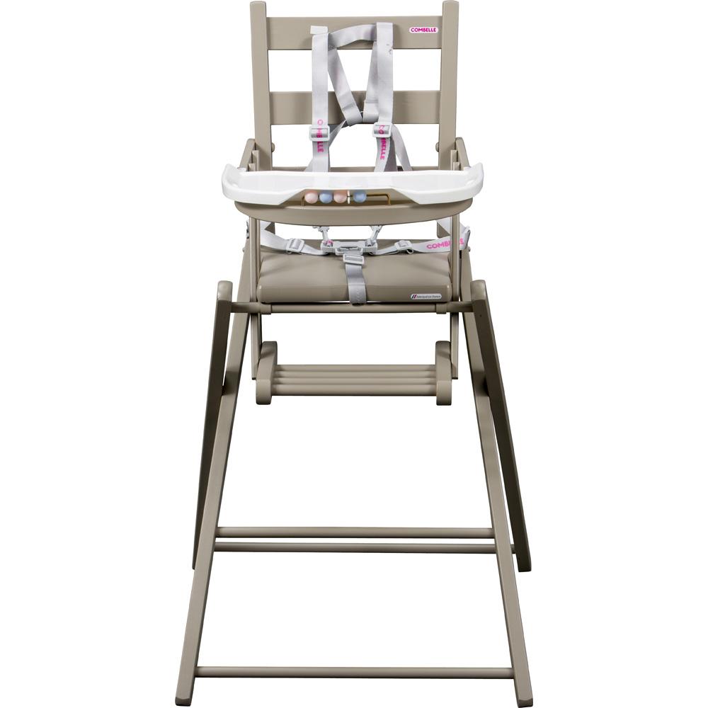 chaise haute b b extra pliante gris de combelle en vente chez cdm. Black Bedroom Furniture Sets. Home Design Ideas