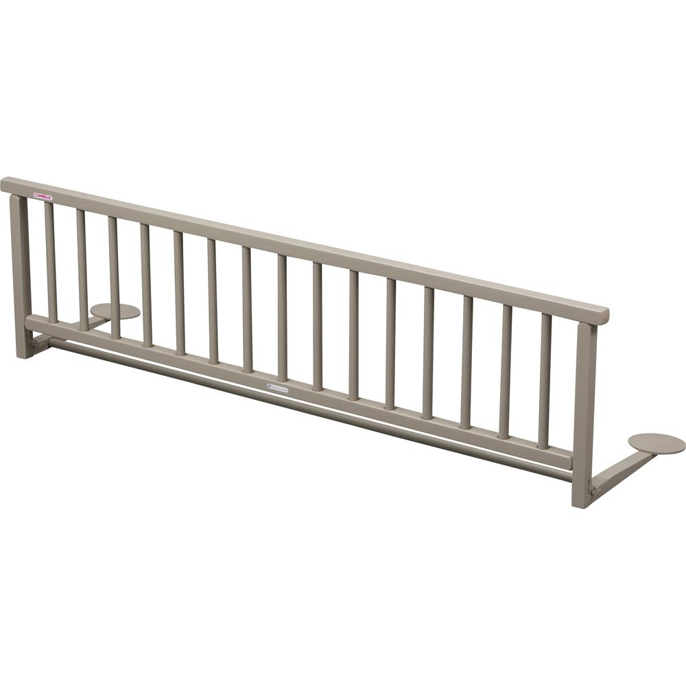 barri re de lit pliante laqu gris de combelle chez naturab b. Black Bedroom Furniture Sets. Home Design Ideas