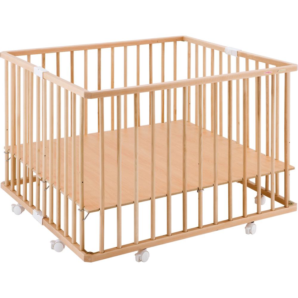 soldes parc b b pliant a plancher gaby vernis naturel 31. Black Bedroom Furniture Sets. Home Design Ideas